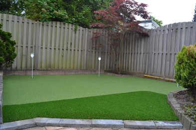 Golf Putting Green van Kunstgras in Krommenie